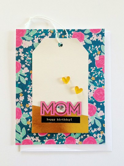 Mom birthday card gossamer blue sabrina alery