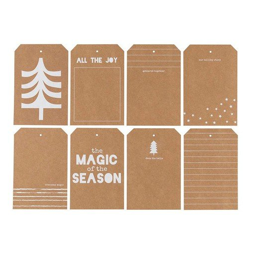 Picture of December Daily® 2020 4x6 Kraft Shipping Tag Set