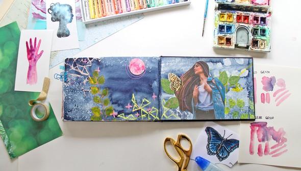 Watercoloring in your art journal gallery4 original