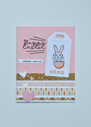 Easter bunny card original