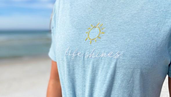 129396 life shines embroidered short sleeve tee   women   sky slider5 original