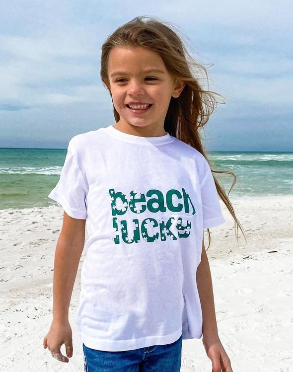 134282 beachluckyshortsleeveteewhite kids slider1 original