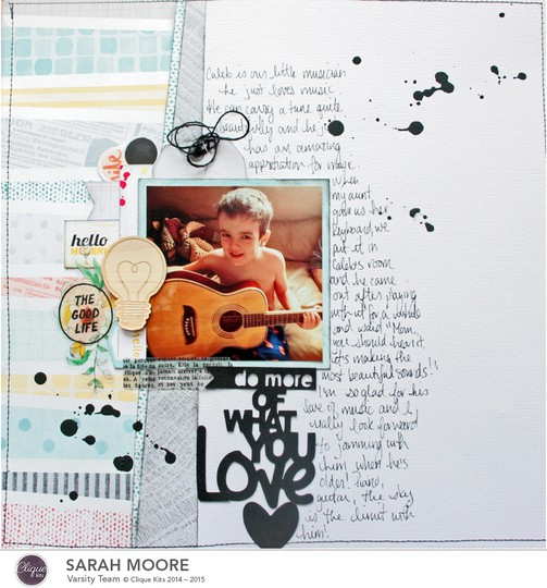 Clique kits january tailor made kit sarah moore layout one