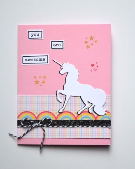You are awesome unicorn card original