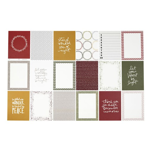 Picture of December Daily® 6x8 Variety Pattern Paper Pack