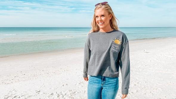 129083 pocket full of sunshine pocket slouch sweatshirt women gray slider2 original