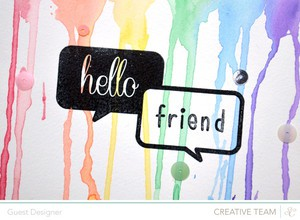 Hello friend card detail by paige evans