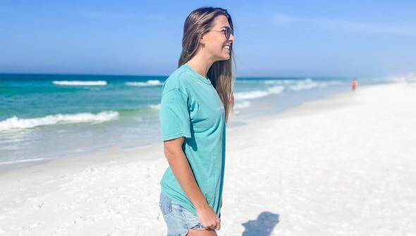 154075  simple beach happy comfort colors short sleeve tee women seafoam slider3 original