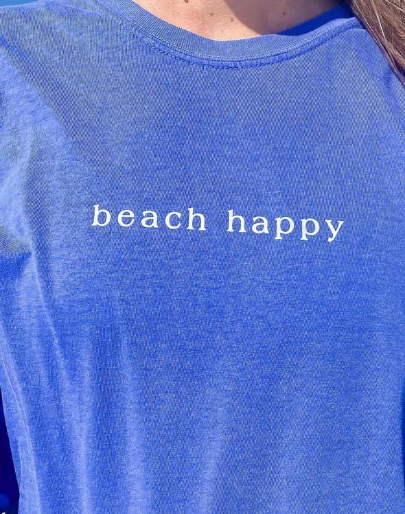 154117 simple beach happy comfort colors long  sleeve tee flo blue women slider 2 original