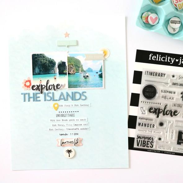 Explore the islands scrapbooking layouts 1 original