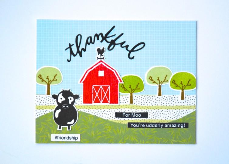 Thankful for moo card original