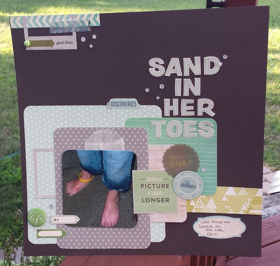 Sand in her toes