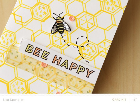 Bee happy closeup