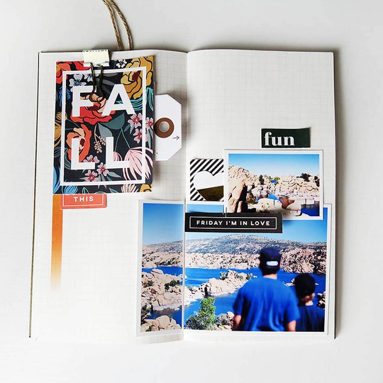 Aftm fall travelers notebook spread 1s original