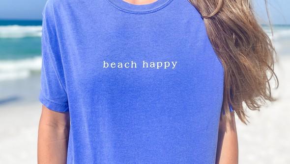 154111 simple beach happy comfort colors short sleeve tee women flo blue slider3 original