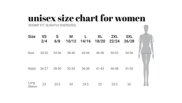 30a unisexwomen oversized sizecharts original