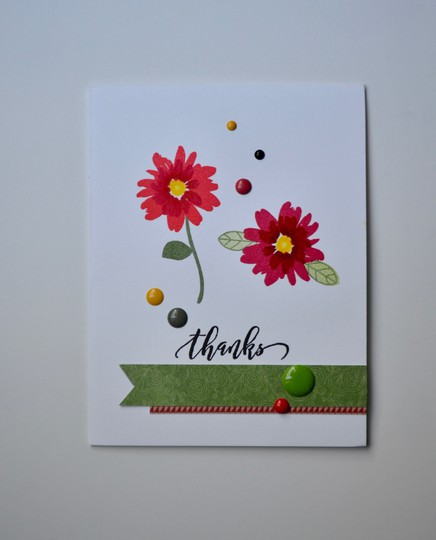 Floral thanks card original