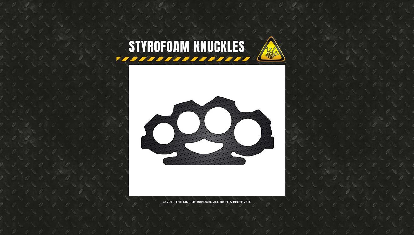 styrofoam brass knuckles template