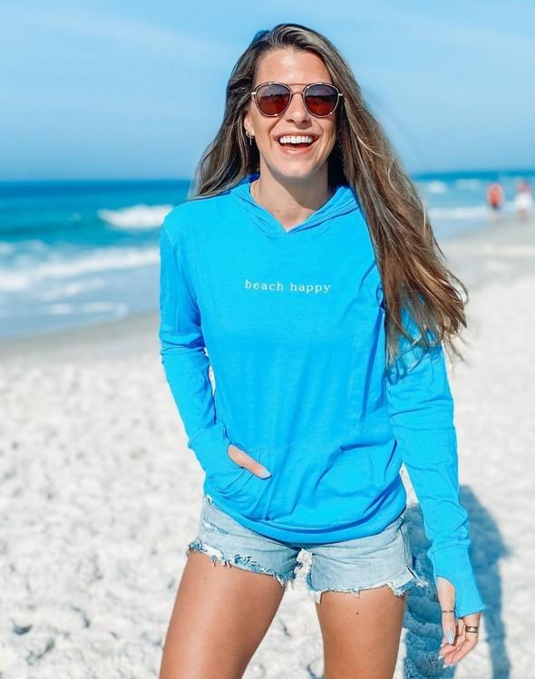 146351 simple beach happy pullover hoodie 30a blue women slider 3 original