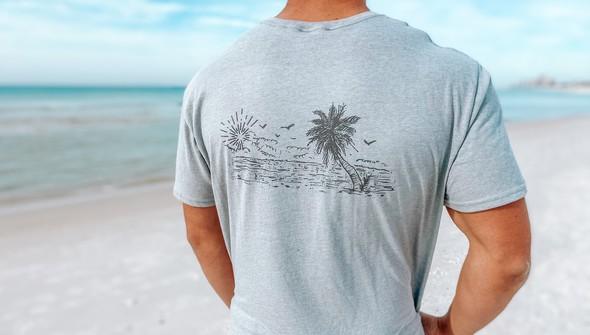 129461 sketched beach short sleeve tee   men   ash slider1 original