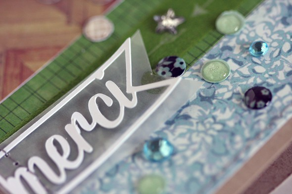 Merci card closeup