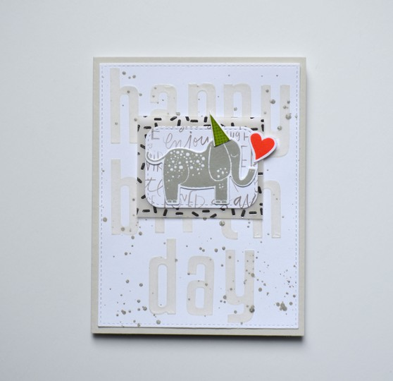 Happy birthday elephant card original