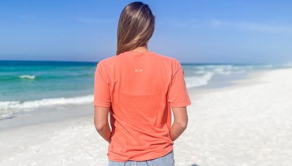 154063 simple beach happy comfort colors short sleeve tee women bright salmon slider4 original
