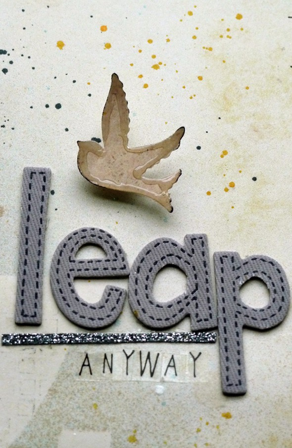 Leap bird punch mist scrapbook