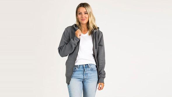 Basic fullzipsweatshirtwomen gray slider1 original