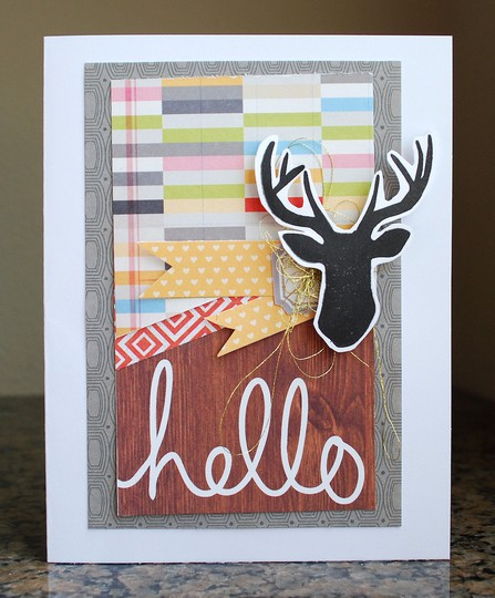 Hello deer card