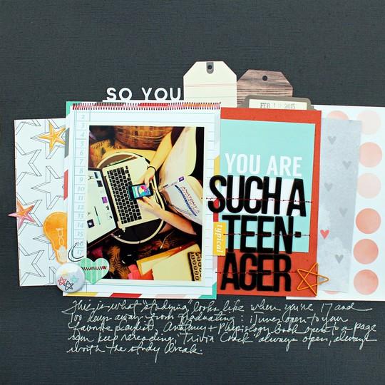Teenager scraptastic