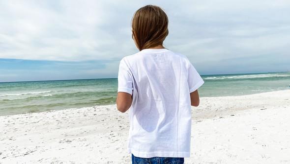 134282 beach lucky short sleeve tee kids  white slider4 original