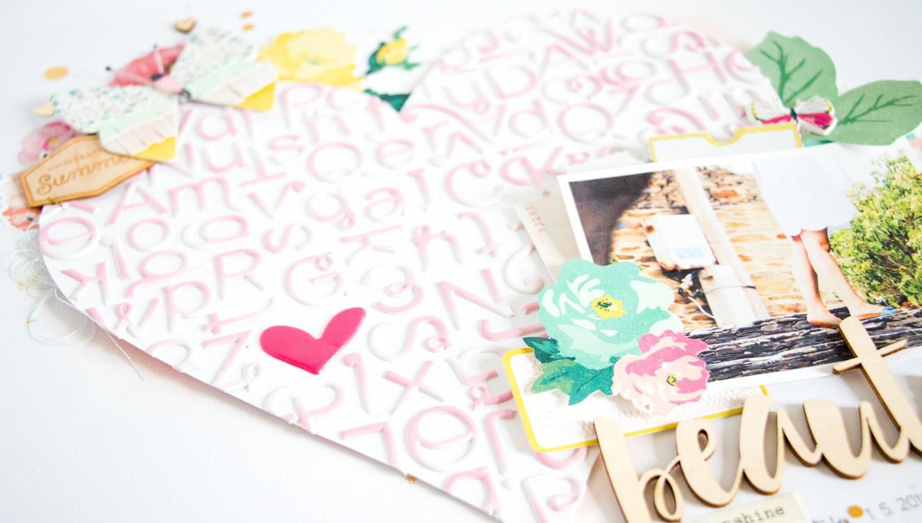Beautiful scatteredconfetti scrapbooking layout paperlesspages marketing original