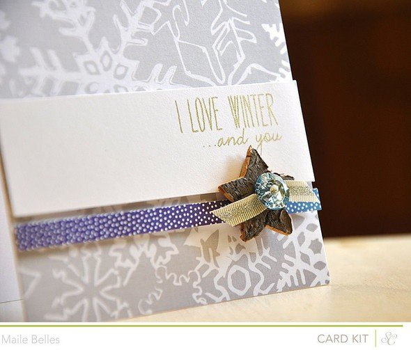 I love winter and you card detail