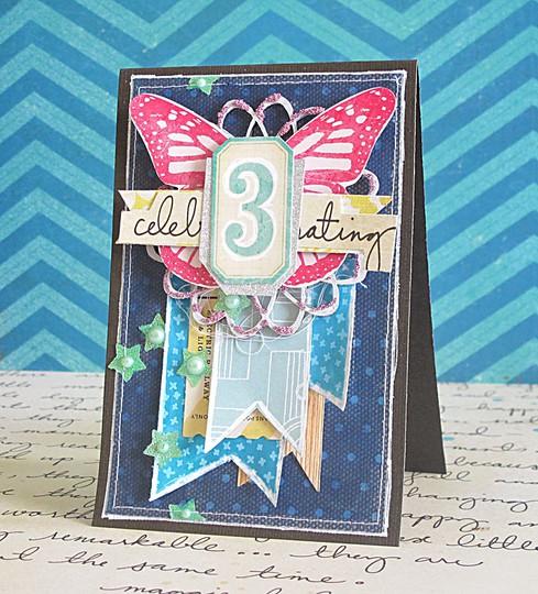 Celebrating 3 card