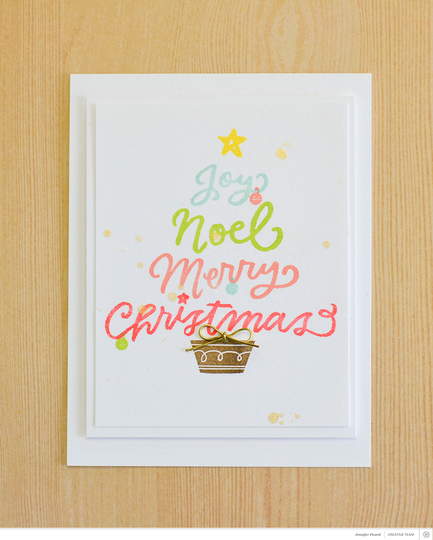 Christmas words card original