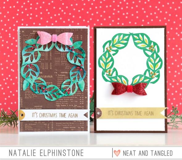 Leaf wreath 2 ways by natalie elphinstone original