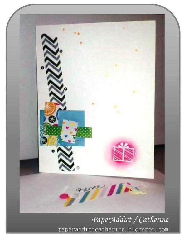 Renee bday card and envie