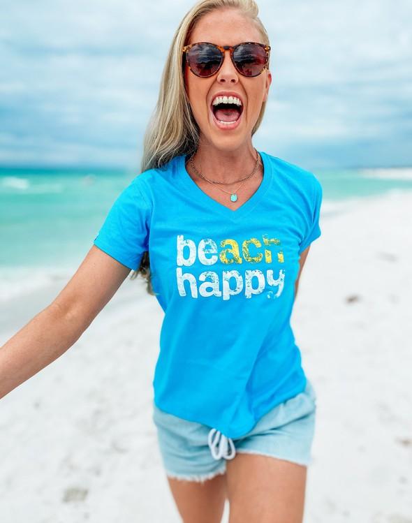 108537 beachhappyshortsleevev necktee30ablue women slider2 original