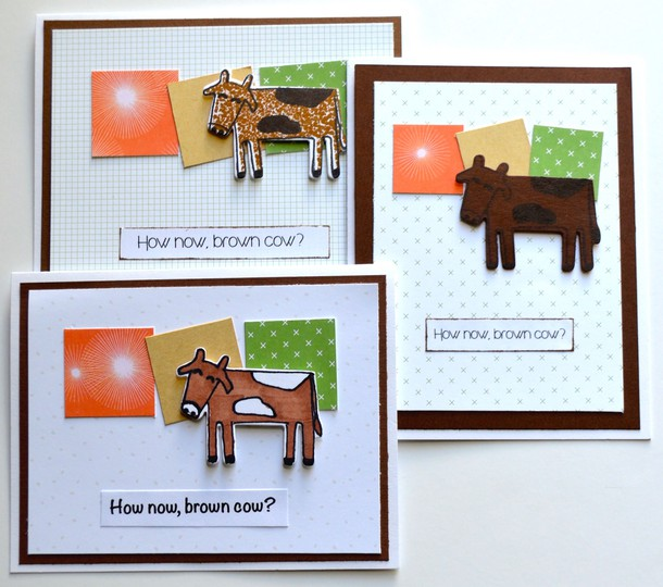 Brown cow cards original