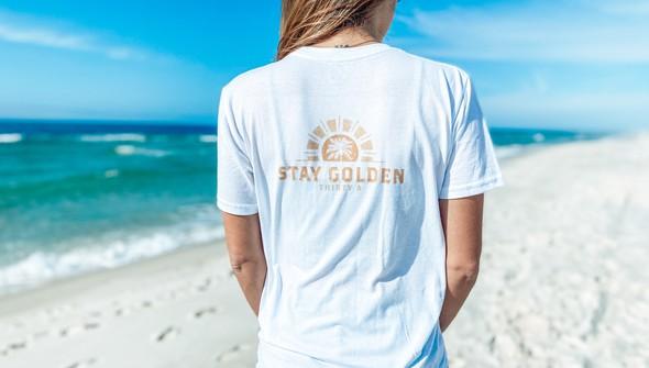 134411 stay golden short sleeve tee women white slider1 original