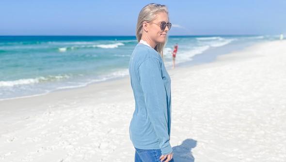 154129 simple beach happy comfort colors long sleeve tee women ice blue slider3 original