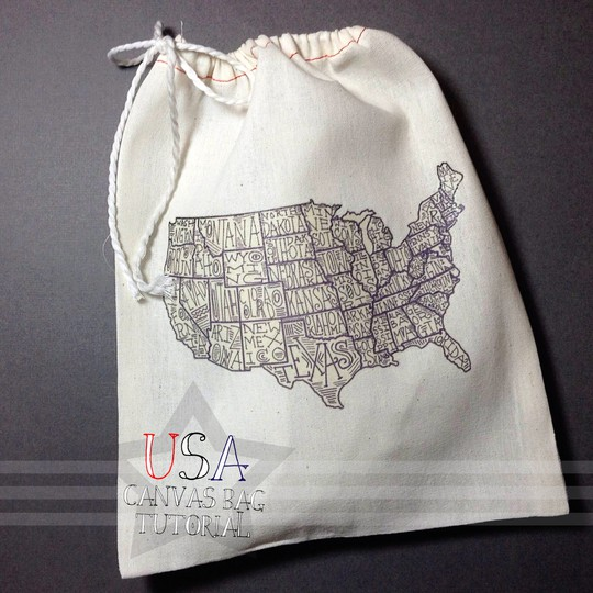 Usa canvas bag tutorial