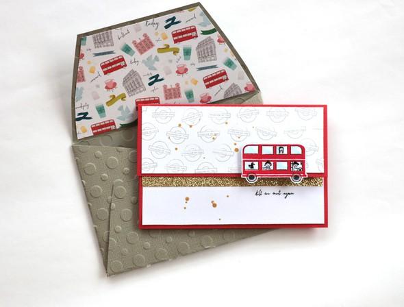 Bus envelope by natalie elphinstone original original