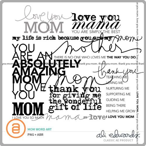 Ali Edwards Design Inc. | Mom Word Art
