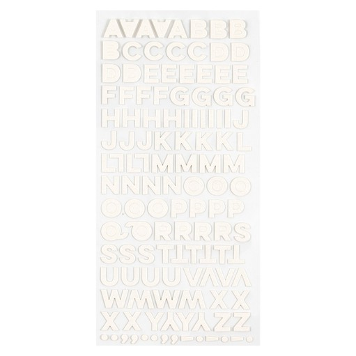 Picture of December Daily® 2021 White Glitter Cardstock Alpha
