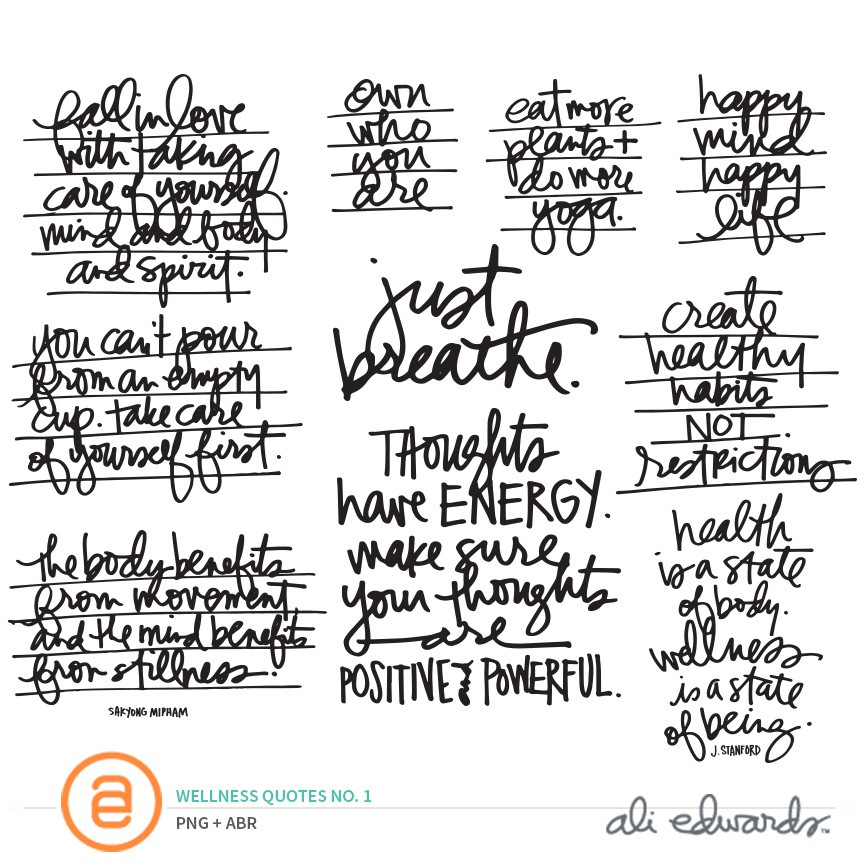 Wellness Quotes Interesting Ali Edwards Design Inc Wellness Quotes No1
