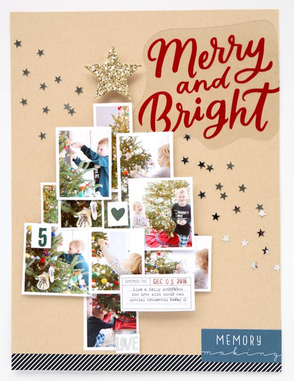 Pam baldwin making spirits bright scrapbook layout original