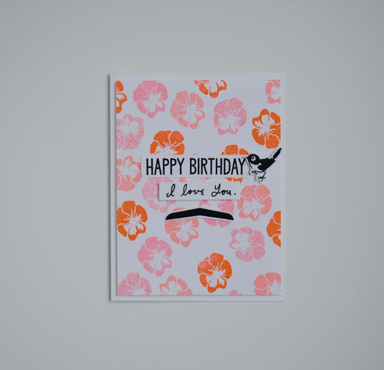 Birthday love card original