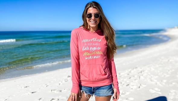 137604 beach trip essentials pullover hoodie women melon slider1 original